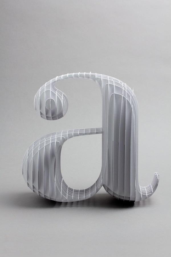 Tipografia feita com Papel
