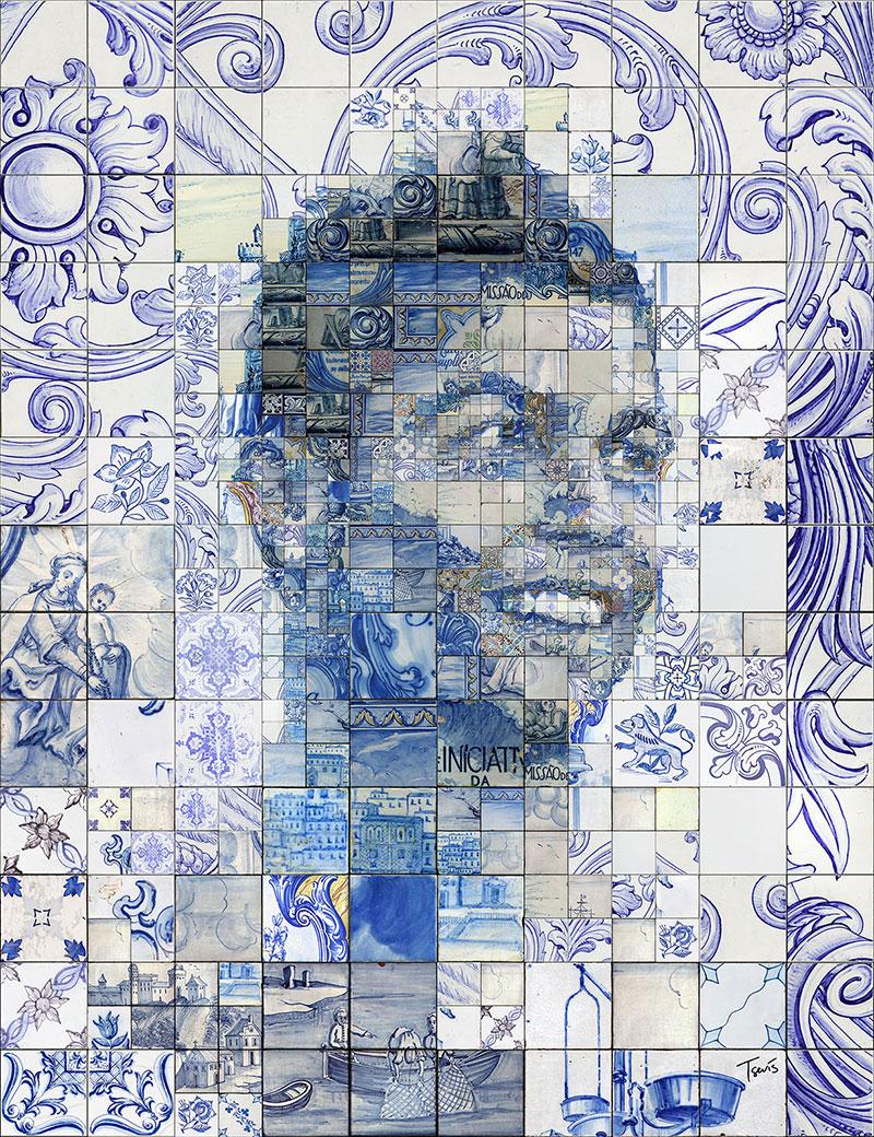 Designer cria mosaicos de cristiano ronaldo usando for Carrelage portugal