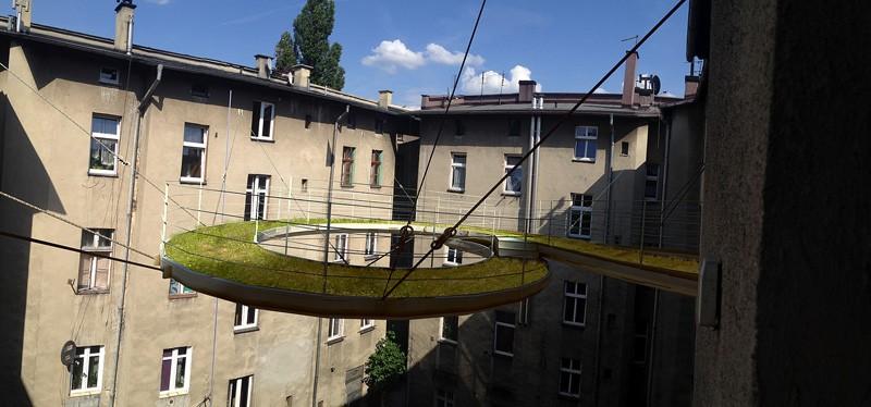varanda de grama na polônia