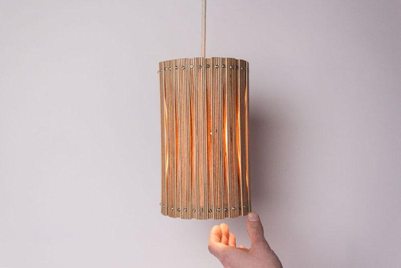 upcycle uma s rie de lumin rias feitas de madeira sala7design. Black Bedroom Furniture Sets. Home Design Ideas