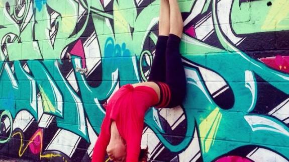 Yoga street art
