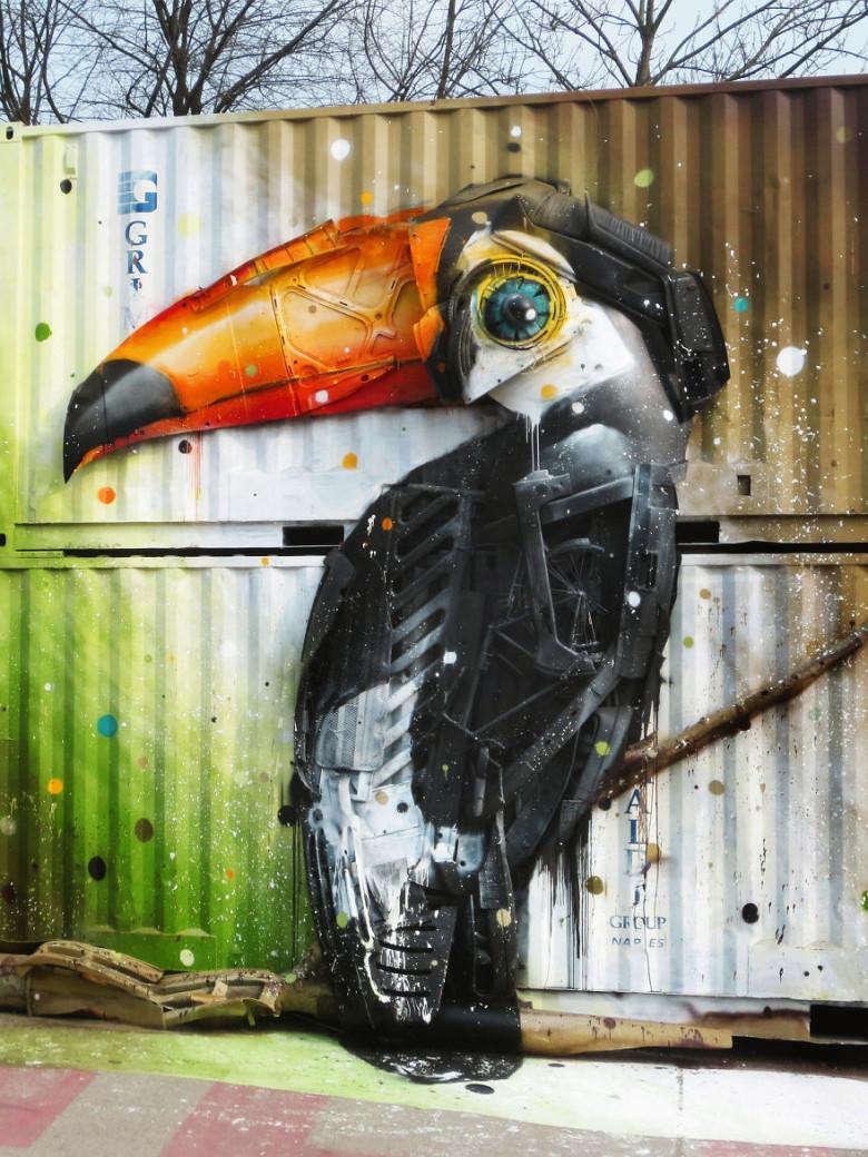 intervenção-artur bordalo-lixo-reciclável-eco-grafite-2
