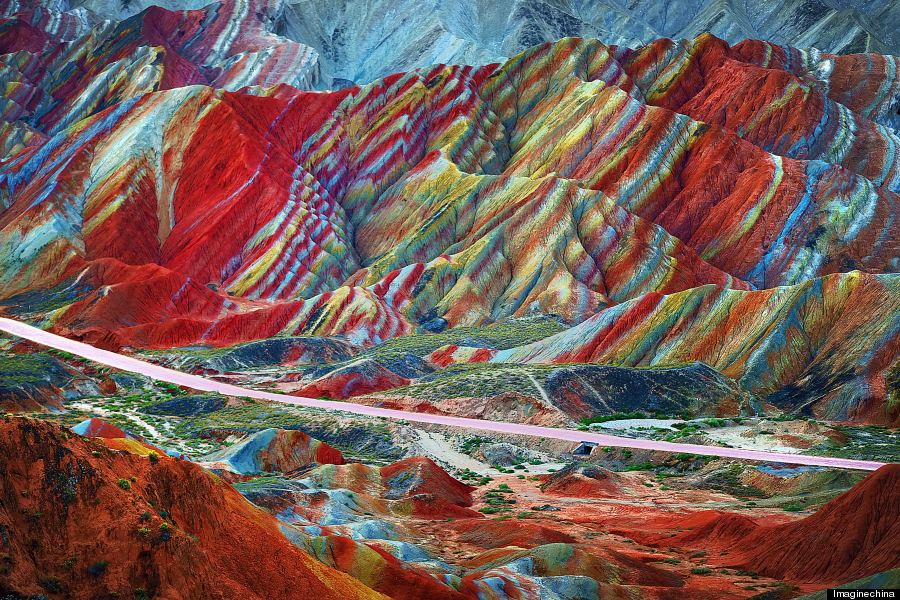 Danxia Landform - Rainbow Mountains
