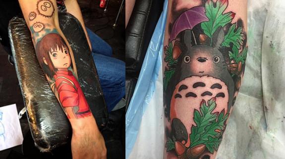 tatuagens hayao miyasaki
