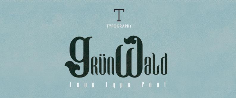 grunwald free font