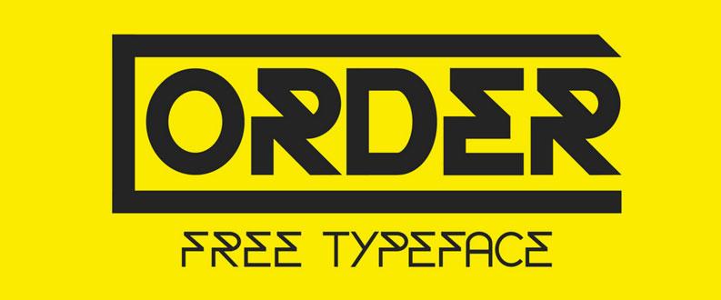Order free font