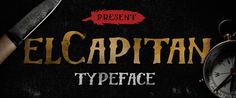 El Capitan free font