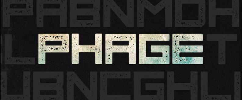 Phage free font