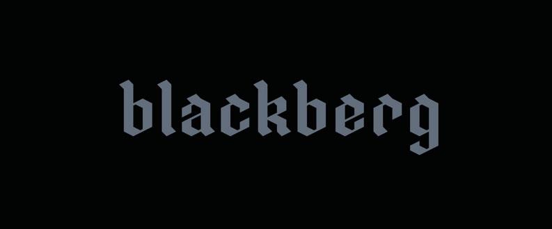 Blackberg free font
