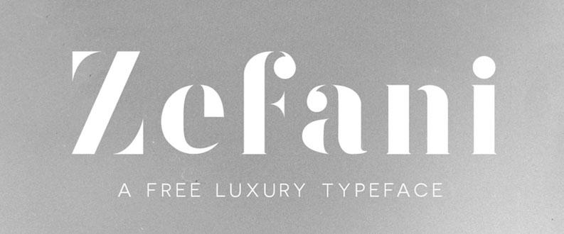 Zefani free font