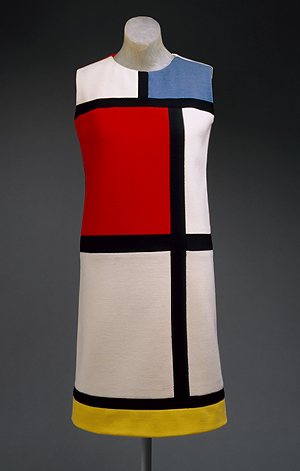 Yves Saint-Laurent inspirado na obra de Piet Mondrian