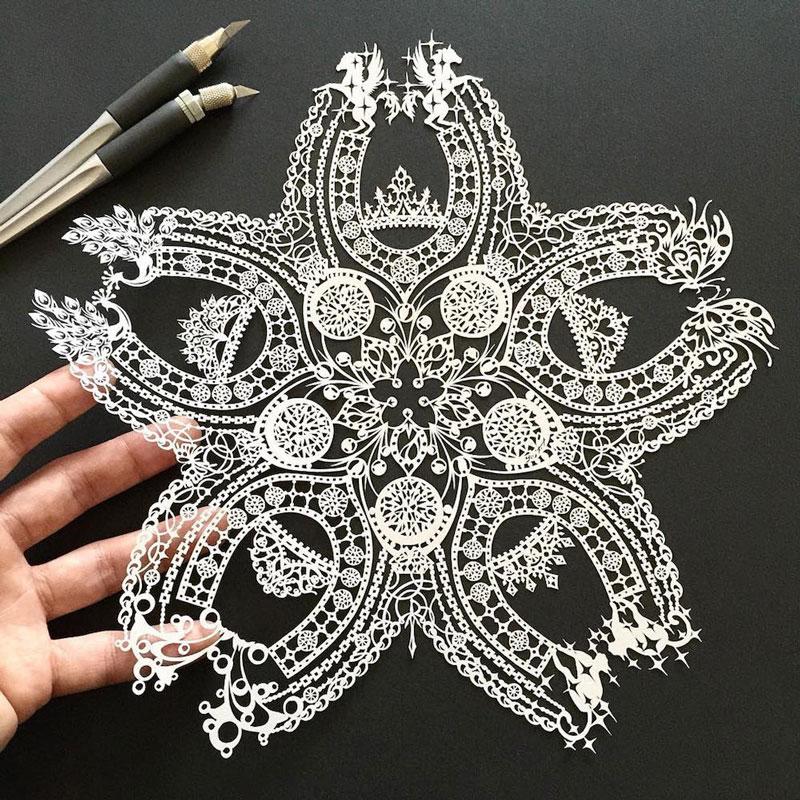 Desenhos em corte de papel