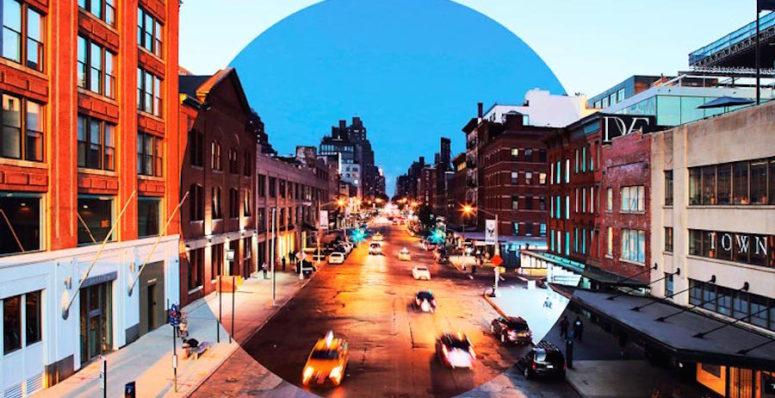 Fotografia mostra contraste urbanp