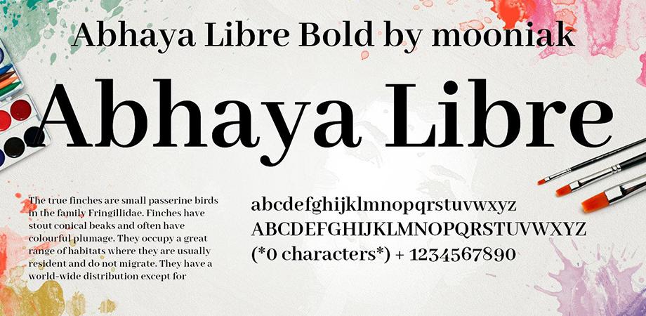 Abhaya-Libre-free-font