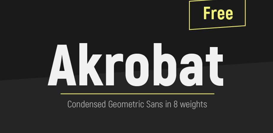 akrobat-free-font