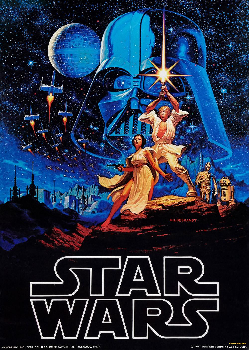 O poster mais famoso do filme original desenhado pelos irmãos Greg y Tim Hildebrandt, que lembra muito Conan e He-man