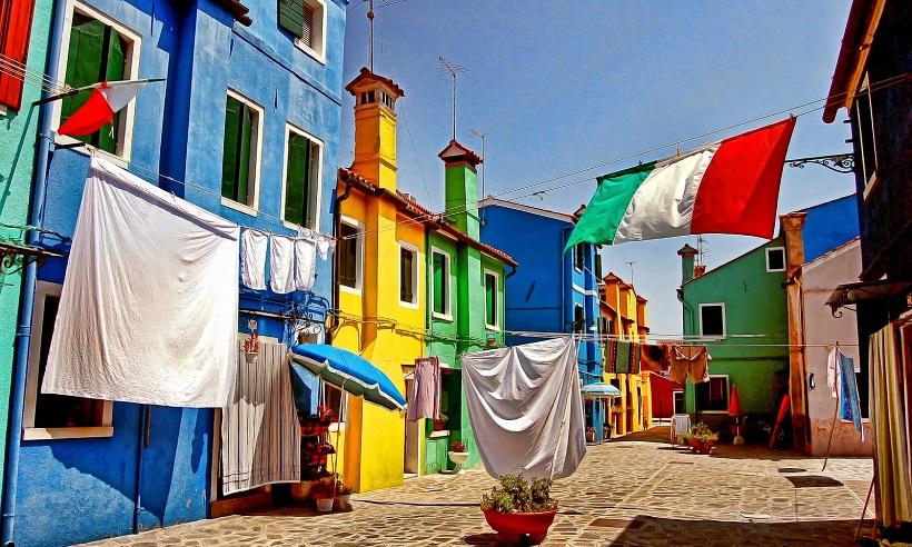 Ilha de burano, na Itália