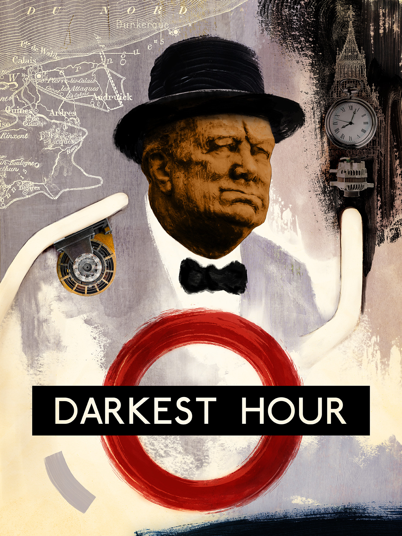 Darkest Hour - inspired by Richard Hamilton, designed by Alice Li:Shutterstock
