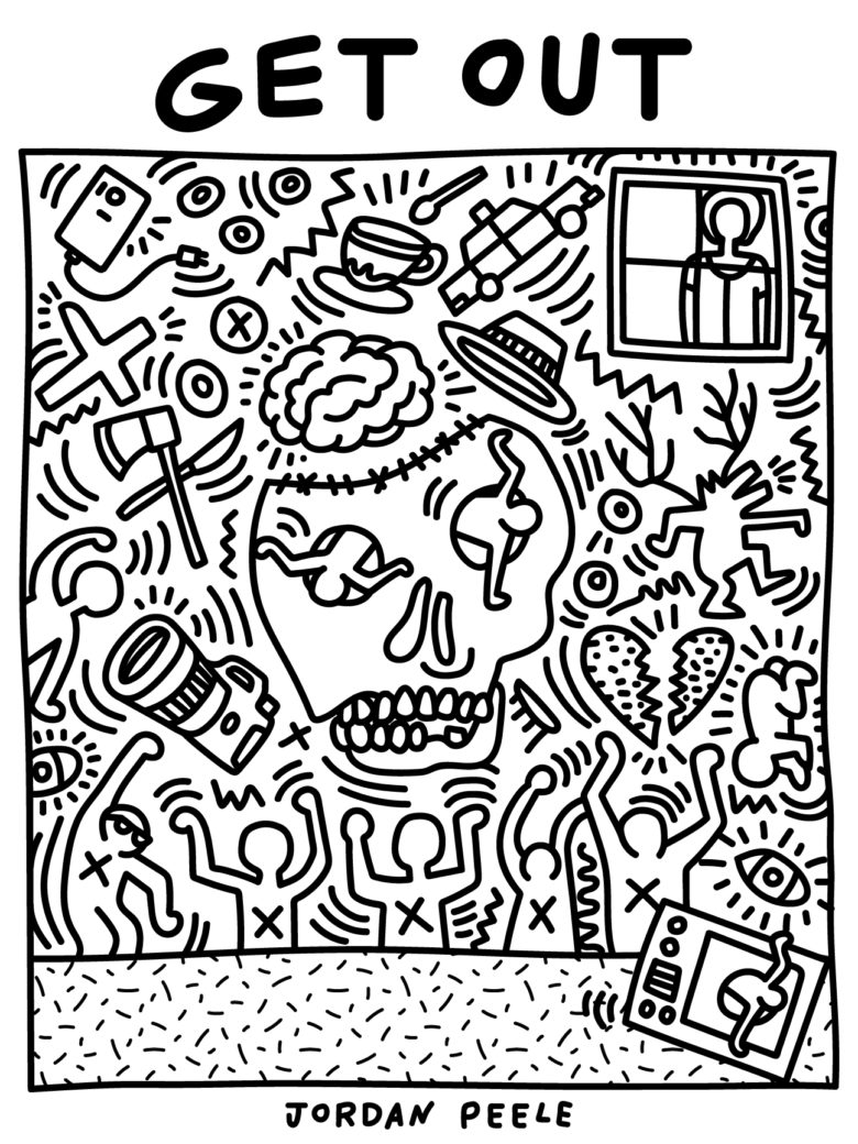 Get Out - inspired by Keith Haring, designed by Alice Lee:Shutterstock