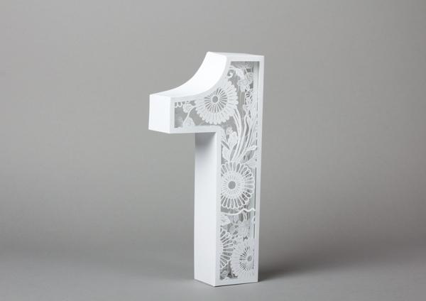 Tipografia feita com papel e recortes