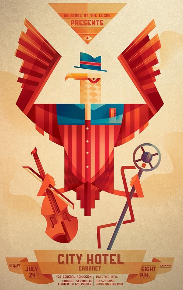Sean-Loose-Lucas-Theatre-Event-Posters-City-Hotel-Cabaret