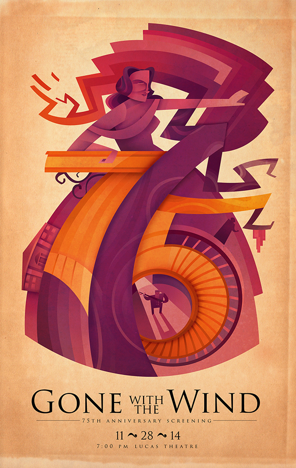Sean-Loose-Lucas-Theatre-Event-Posters-Gone-With-the-Wind