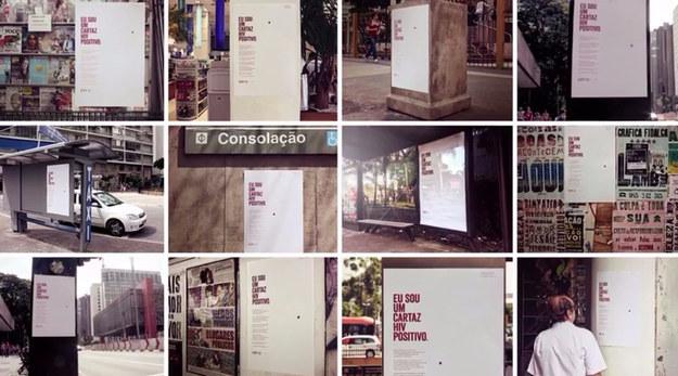 Cartazes na cidade para a campanha