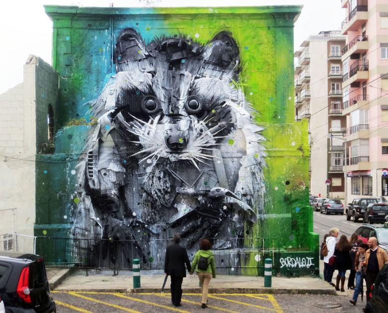 intervenção-artur bordalo-lixo-reciclável-eco-grafite-11