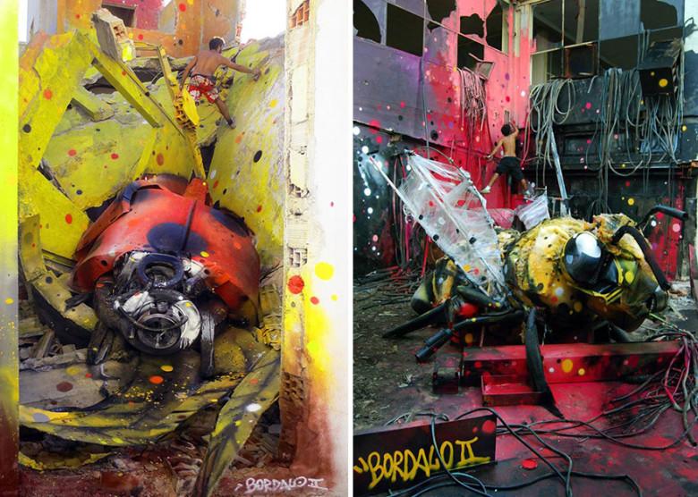 intervenção-artur bordalo-lixo-reciclável-eco-grafite-5