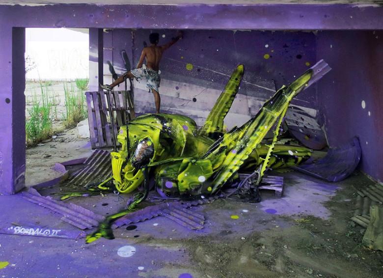 intervenção-artur bordalo-lixo-reciclável-eco-grafite-6