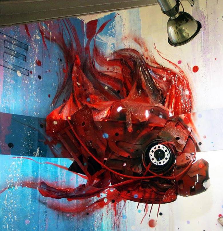 intervenção-artur bordalo-lixo-reciclável-eco-grafite-9