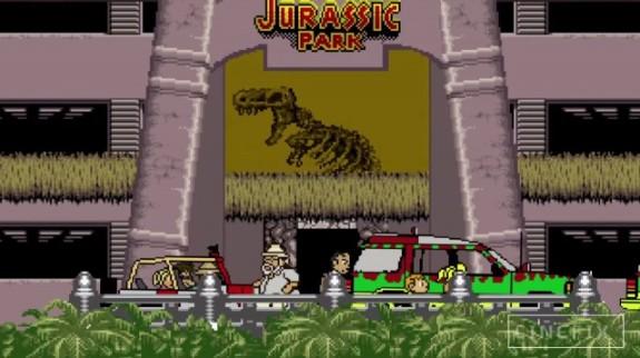 Jurassic Park 8-bits