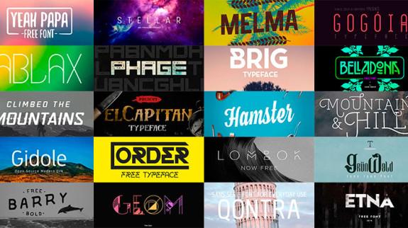 Best free fonts 2015