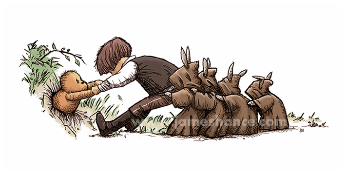 winnie-the-pooh-james-hance-han-solo-chewie