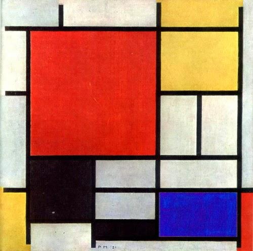 Composição em vermelho, amarelo, azul e preto (1921)