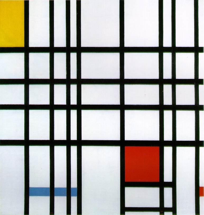 Composição com vermelho,amarelo e azul (1935-1942)