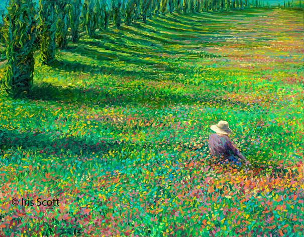 Pintura a óleo com os dedos de Iris Scott