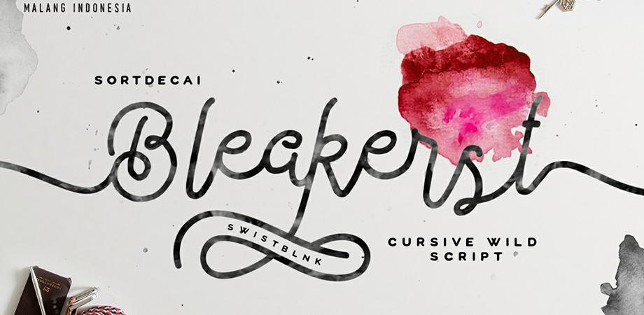 bleakerst-free-font