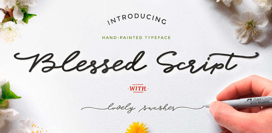 blessed-script-free-font