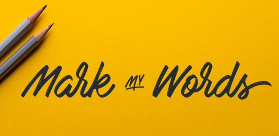 mark-my-words-free-font