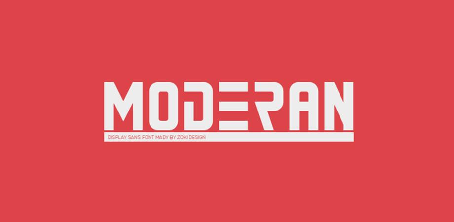moderan-free-font