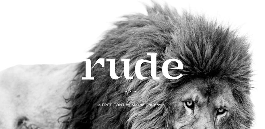 rude-free-font
