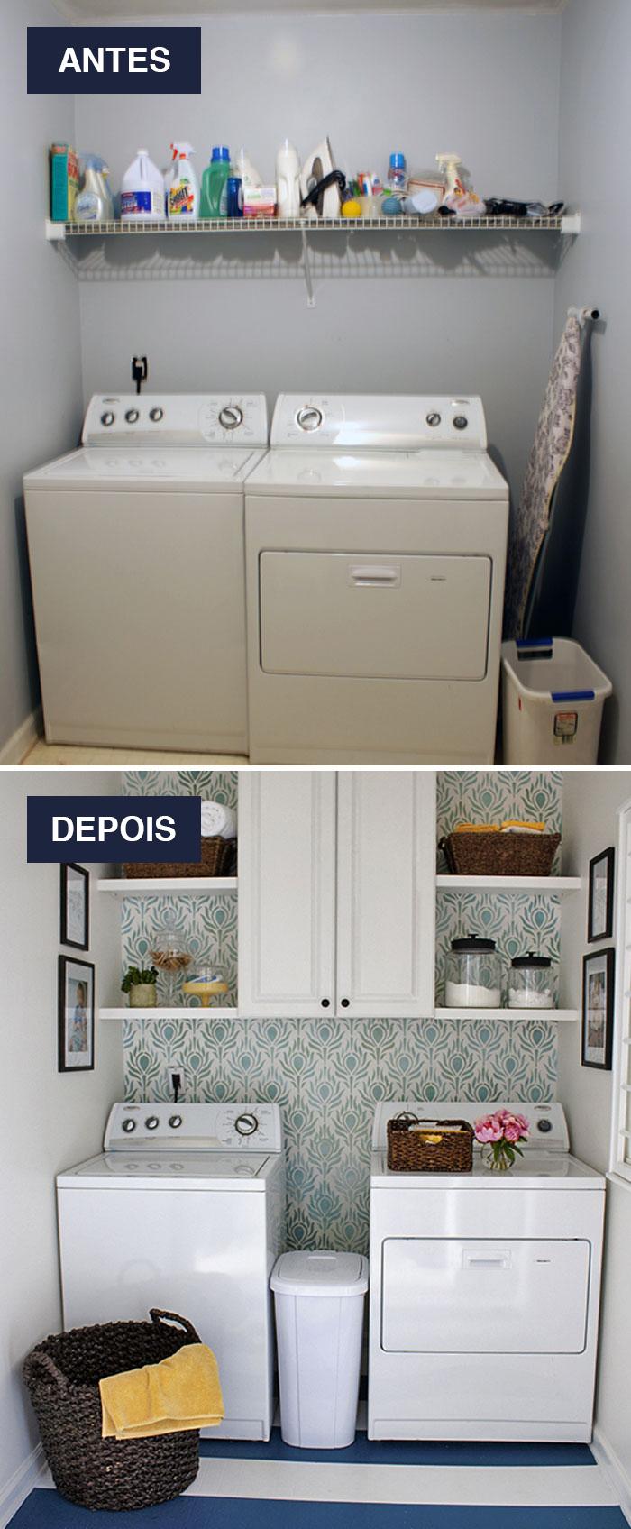 Interiores antes e depois